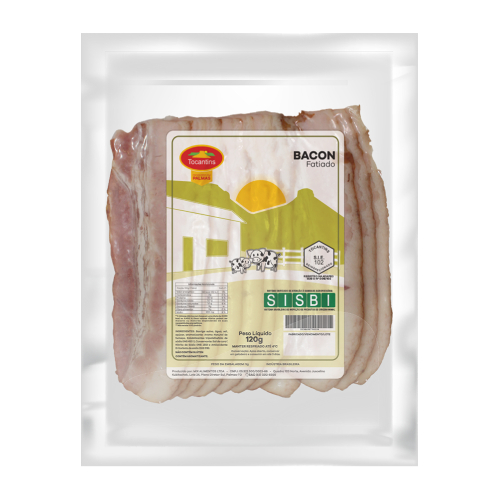 Bacon Fatiado Sem Pele 120G Tocantins