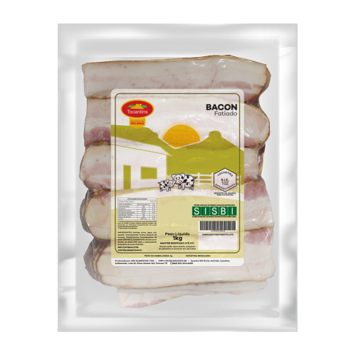 Bacon Fatiado Sem Pele 1Kg Tocantins