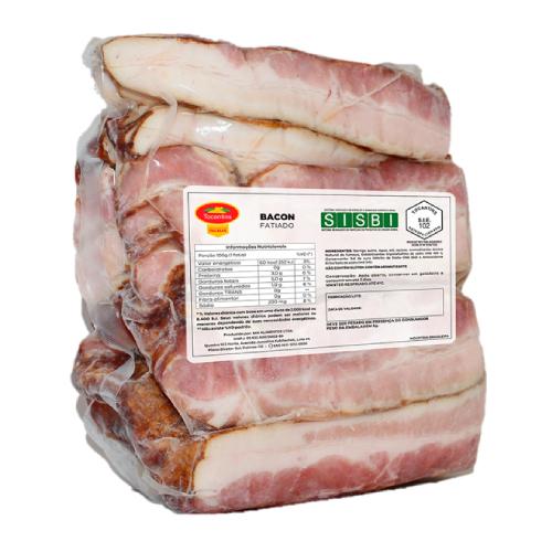 Bacon Fatiado Sem Pele 2Kg Tocantins
