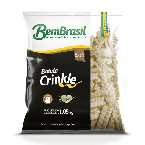 Batata Crinkle 1,05Kg Bem Brasil
