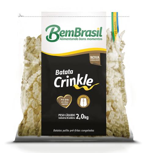 Batata Crinkle 2Kg Bem Brasil