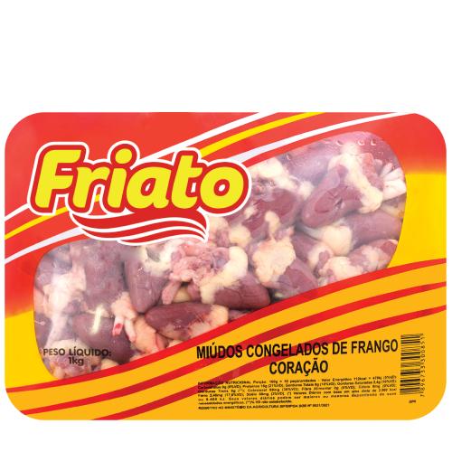 Coração De Frango Bandeja 1Kg Friato