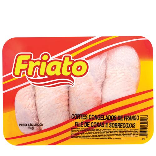 Filé De Coxa E Sobrecoxa Caixa 12Kg Friato