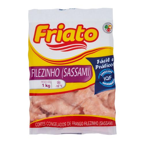Filezinho De Frango Congelado Sassami Iqf 1Kg Friato