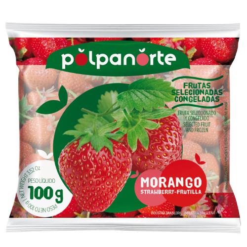 Fruta Morango Congelada 100G Polpanorte