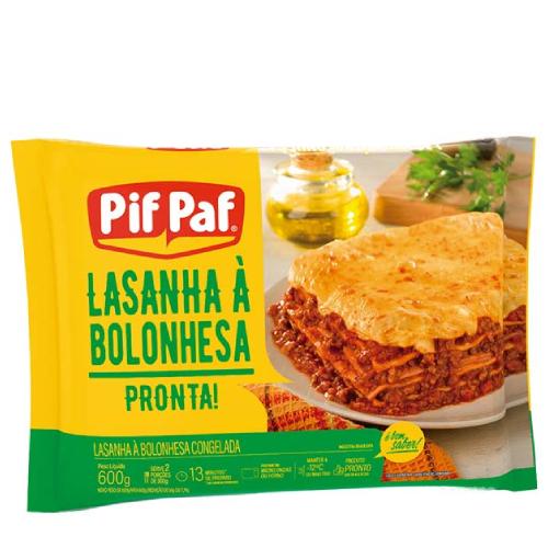 Lasanha Bolonhesa 600G Pif Paf