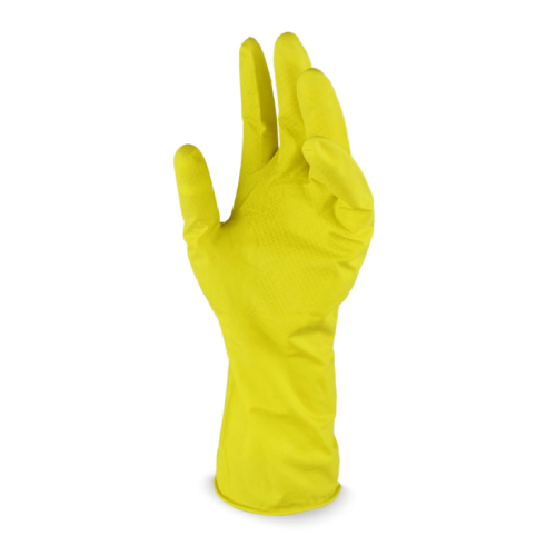 Luva Látex Multiuso Flex Amarela 1 Par Tamanho M Vabene