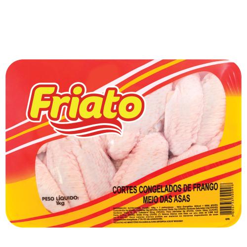 Meio Da Asa De Frango Bandeja 1Kg Friato