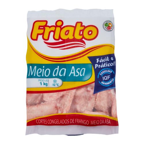 Meio Da Asa De Frango IQF 1Kg Friato