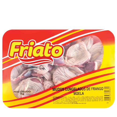 Moela De Frango Bandeja 1Kg Friato