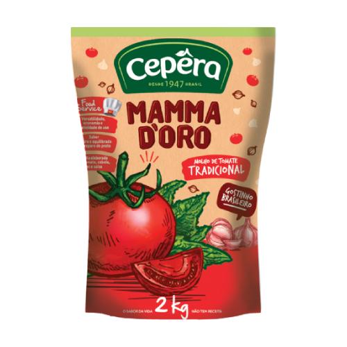 Molho De Tomate Tradicional 2Kg Cepêra