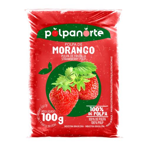 Polpa De Fruta Sabor Morango 100G Polpanorte