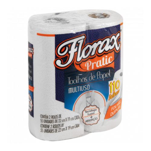 Papel Toalha Multiuso 22X19Cm 110 Folhas Florax
