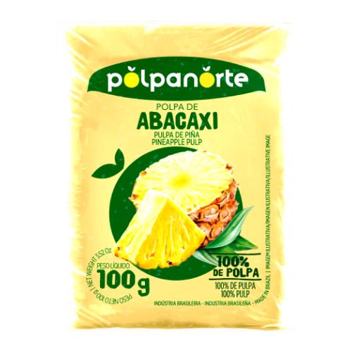 Polpa De Fruta Sabor Abacaxi 100G Polpanorte