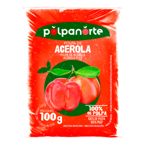 Polpa De Fruta Sabor Acerola 100G Polpanorte