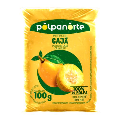 Polpa De Fruta Sabor Cajá 100G Polpanorte