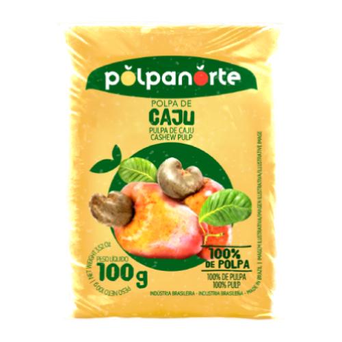 Polpa De Fruta Sabor Caju 100G Polpanorte