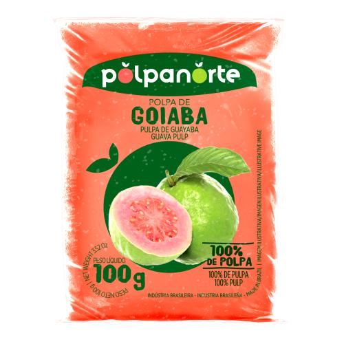 Polpa De Fruta Sabor Goiaba 100G Polpanorte