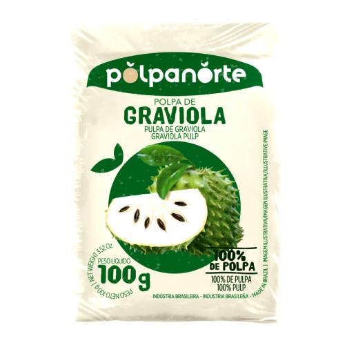 Polpa De Fruta Sabor Graviola 100G Polpanorte