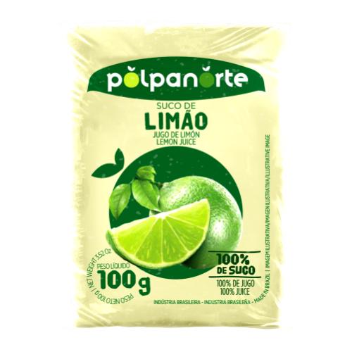 Polpa De Fruta Sabor Limão 100G Polpanorte