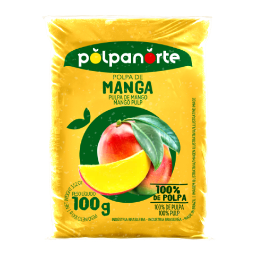 Polpa De Fruta Sabor Manga 100G Polpanorte