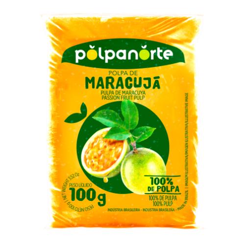 Polpa De Fruta Sabor Maracujá 100G Polpanorte