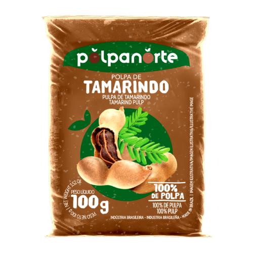 Polpa De Fruta Sabor Tamarindo 100G Polpanorte