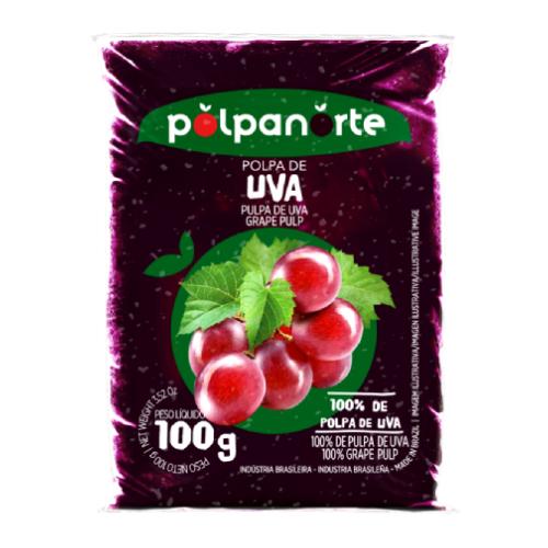 Polpa De Fruta Sabor Uva 100G Polpanorte
