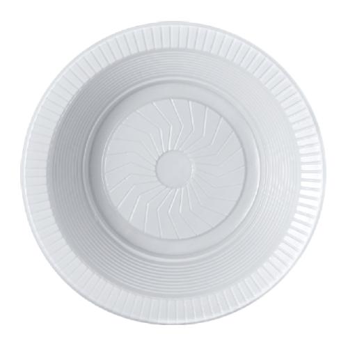 Prato Descartável Fundo 15Cm Ps Branco 10 Unidades Cristalcopo