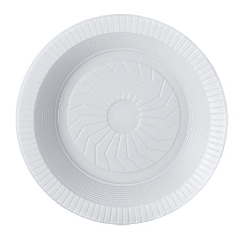 Prato Descartável Fundo 18Cm Ps Branco 10 Unidades Cristalcopo
