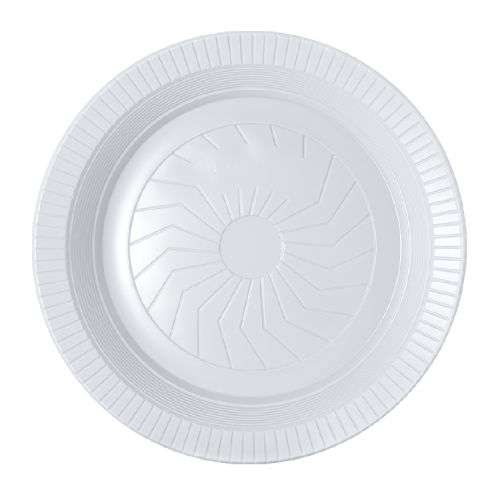 Prato Descartável Fundo 23Cm Ps Branco 10 Unidades Cristalcopo