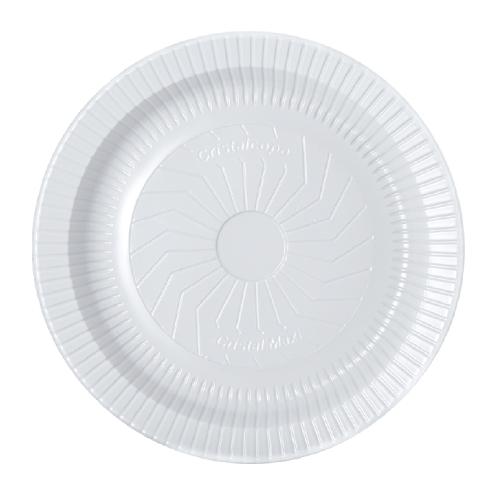 Prato Descartável Raso 18Cm Ps Branco 10 Unidades Cristalcopo