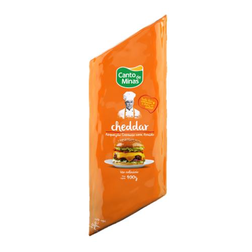 Requeijão Culinário Cheddar 400G Canto De Minas