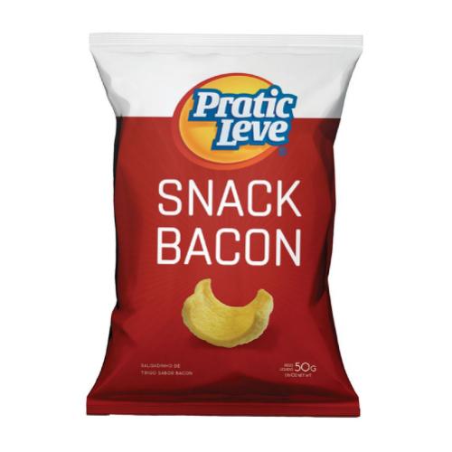 Salgadinho Snack Bacon 50G Pratic Leve