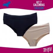 KIT 2 CALCINHAS CALEÇON TRIFIL INVÍSIVEL