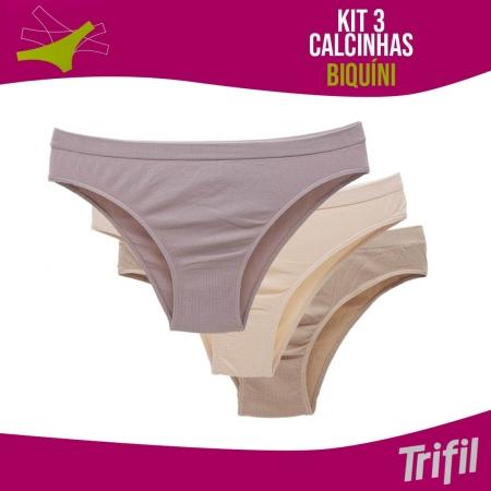 KIT 3X1 CALCINHAS BIQUINI TRIFIL