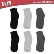 KIT MEIAS TRIFIL 6X1 CANO MEDIO REF T08720