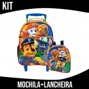 Kit Mochila Com Rodinha e Lancheira Infantil Paw Patrol Xeryus
