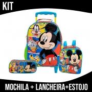 Kit Mochila Infantil Com Rodas Mickey Xeryus