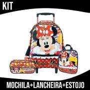 Kit Mochila Infantil Com Rodinha Minnie Xeryus
