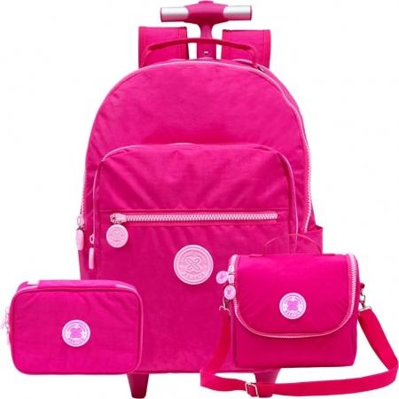 Kit Mochila Trendy Xeryus Com Rodas Pink