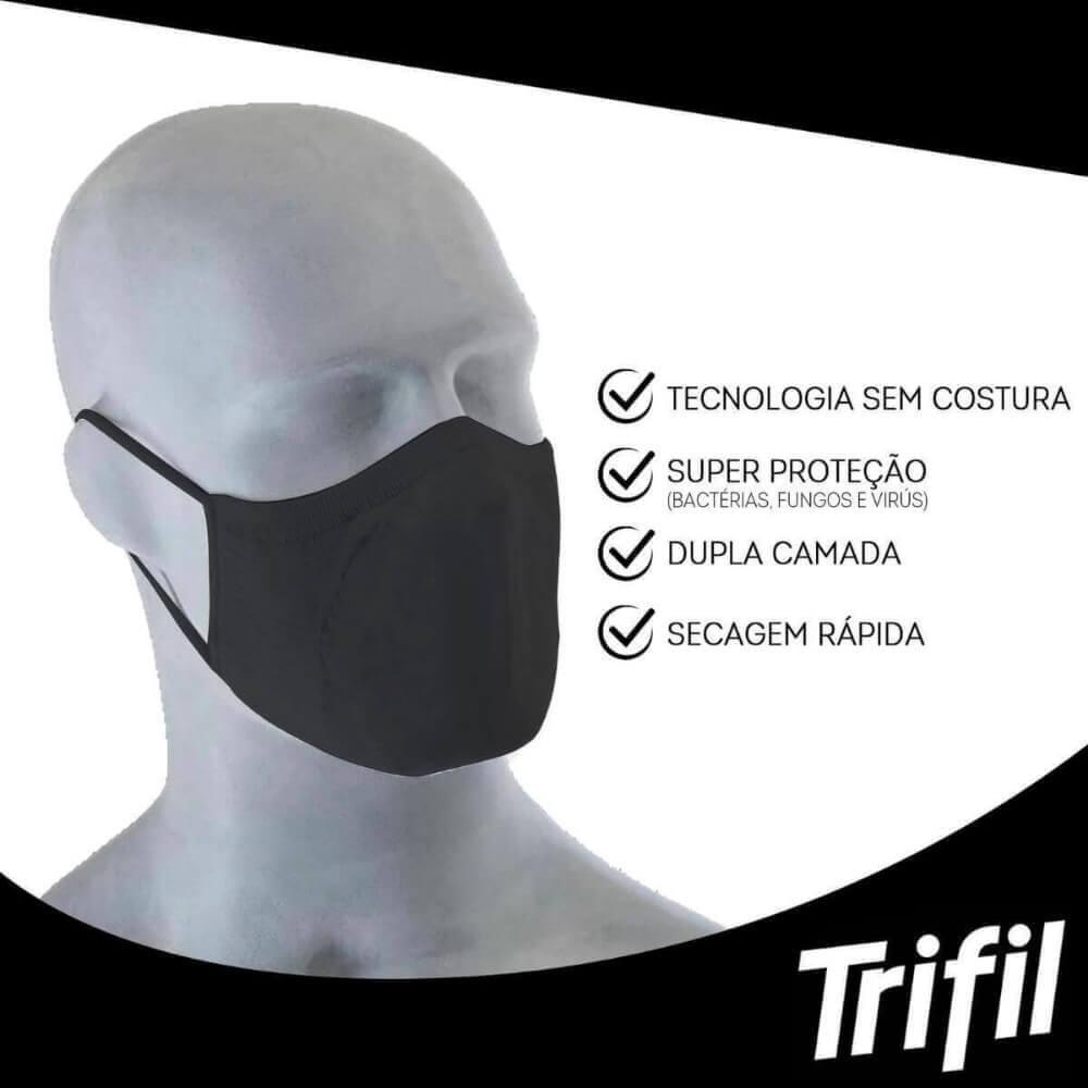 KIT MÁSCARA LAVÁVEL E REUTILIZÁVEL DUPLA FACE 3X1 TRIFIL REF6103