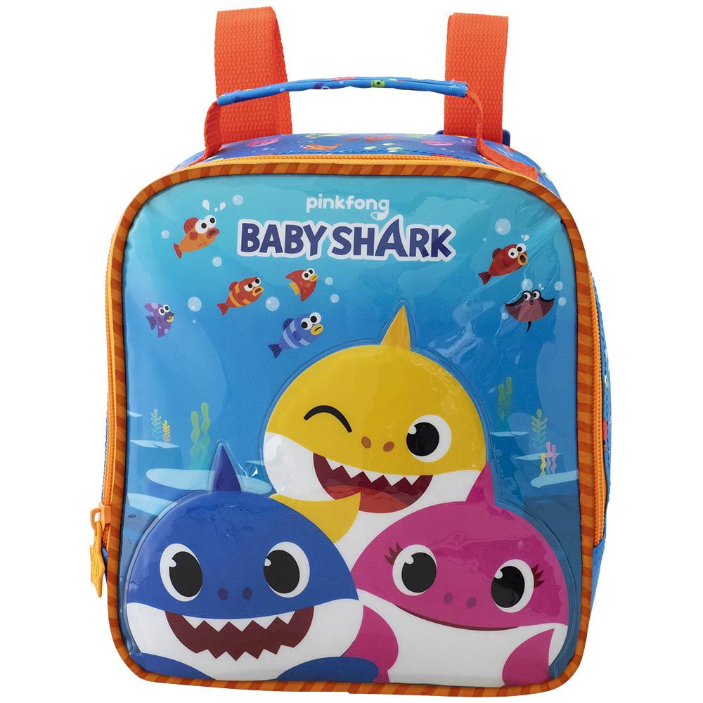 Kit Mochila Com Rodinhas Baby Shark Xeryus