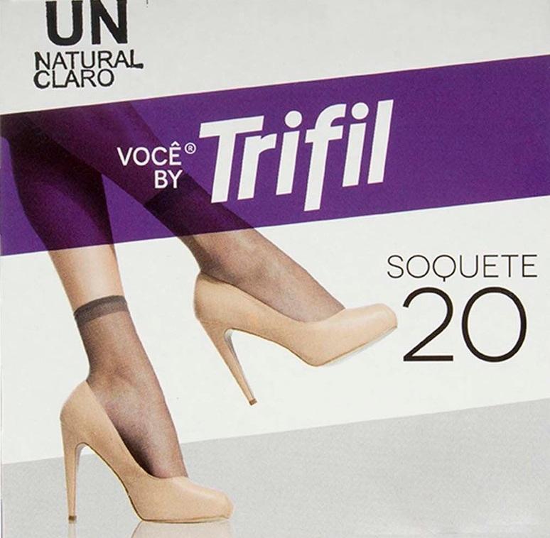 MEIA TRIFIL SOQUETE TRANSPARENTE FIO 20
