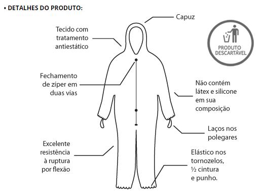 MACACÃO DE SEGURANÇA TIPO 6 - XG