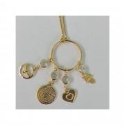 Colar Amuleto Banhado a Ouro 18K