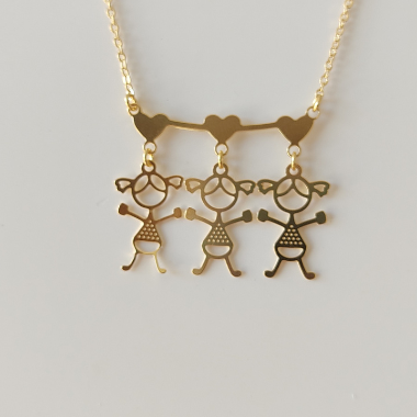 Colar 3 filhos Banhado a Ouro 18k