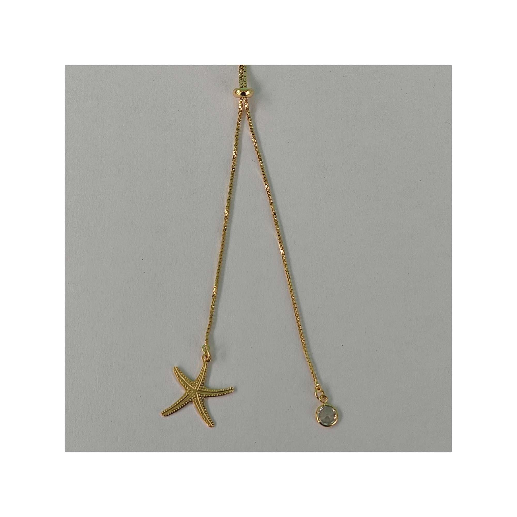 Colar Estrela do Mar banhado a ouro 18K