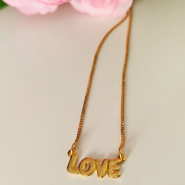Colar Love Laura Banhado a Ouro 18 K