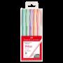 Caneta Esferográfica Faber-Castell Trilux Style Colors Es c/ 5 Unid